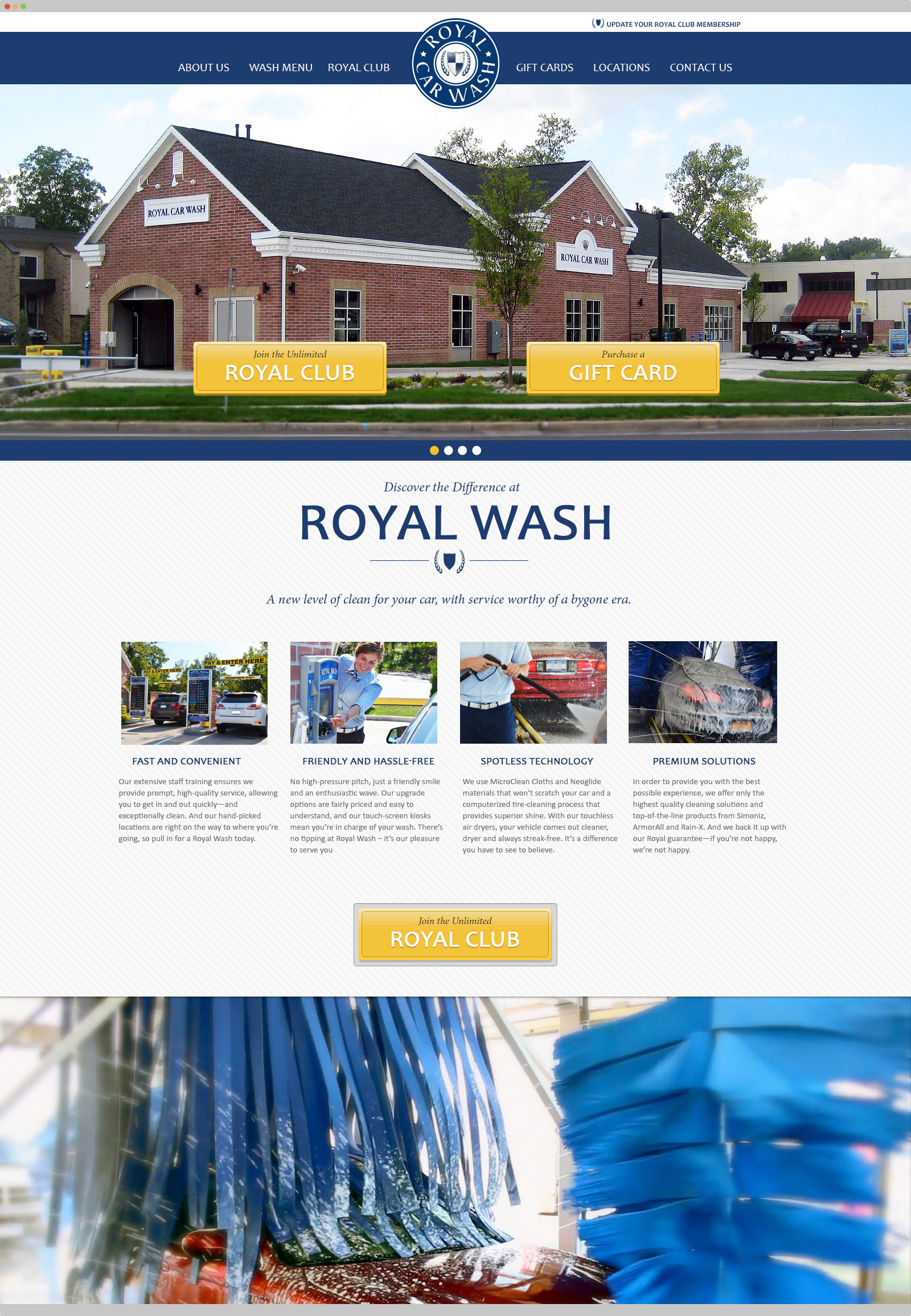 Royal Wash website design