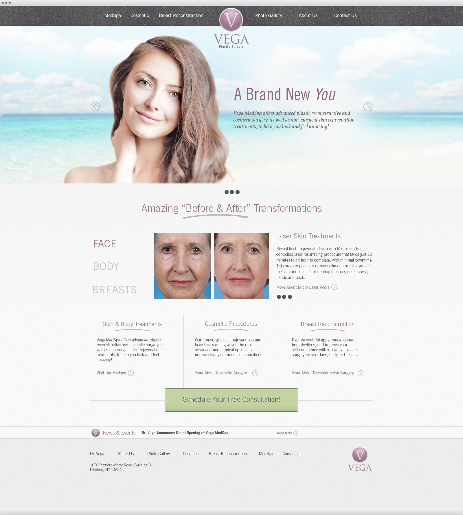 Vega Plastic Surgery website design