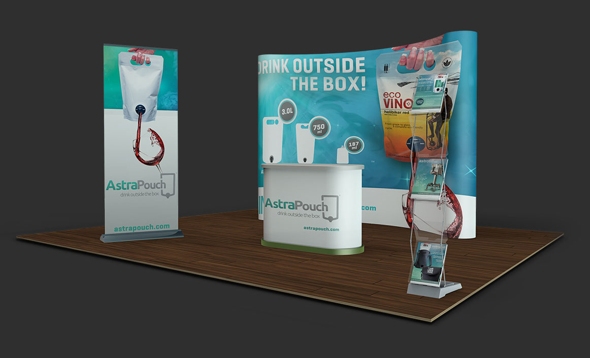 AstraPouch tradeshow booth
