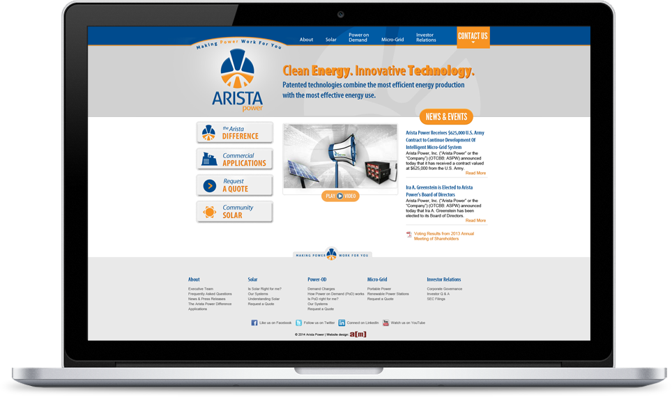 Arista Power Website