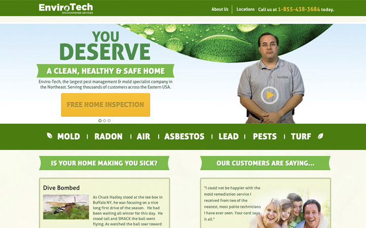 Envirotech Website Branding One