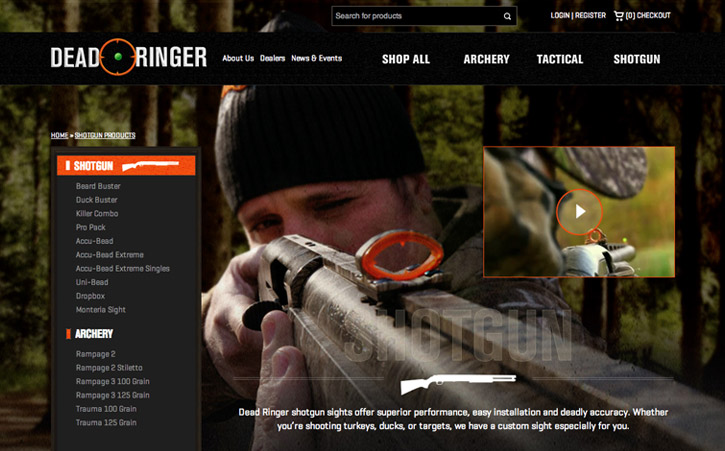 Deadringer Hunting Website Branding One