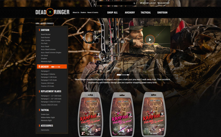 Deadringer Hunting Website Branding Two