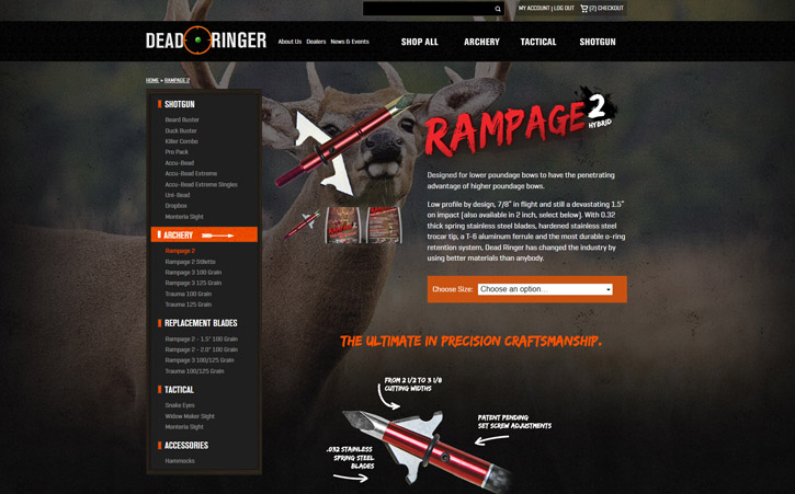 Deadringer Hunting Website Branding Three