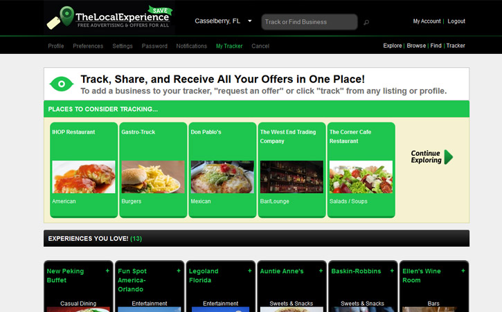 The Local Experience Website Branding Two