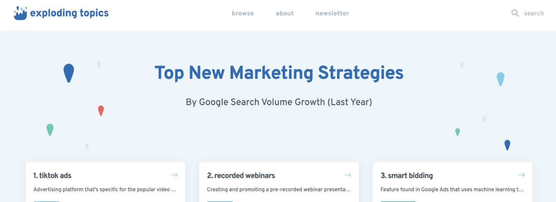 Top New Marketing Strategies