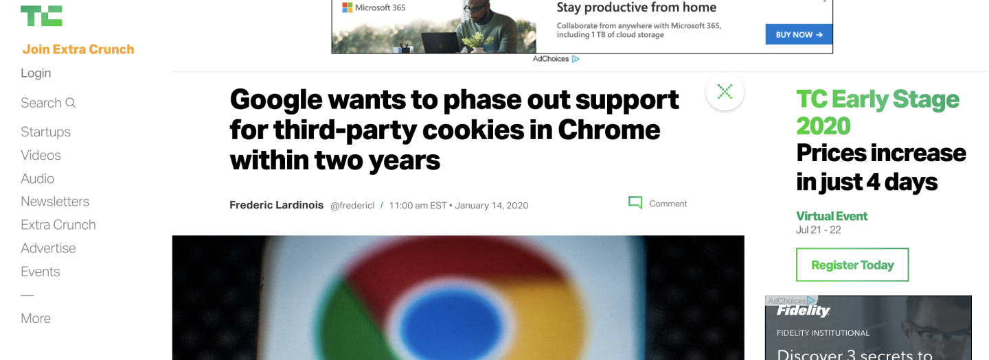 Google wants to phase out support for third-party cookies in Chrome within two years