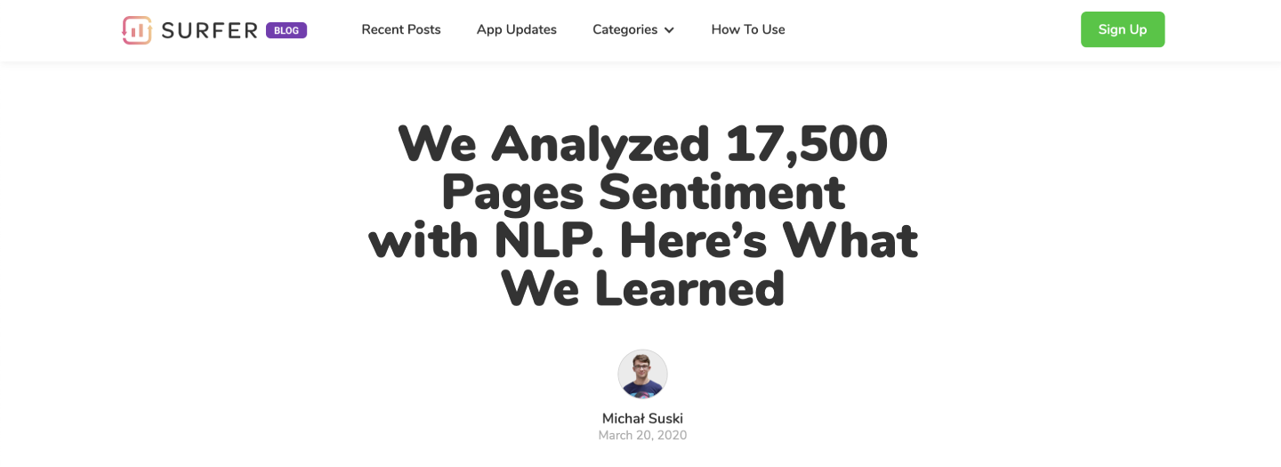 We Analyzed 17,500 Pages' Sentiment with NLP. Here's What We Learned