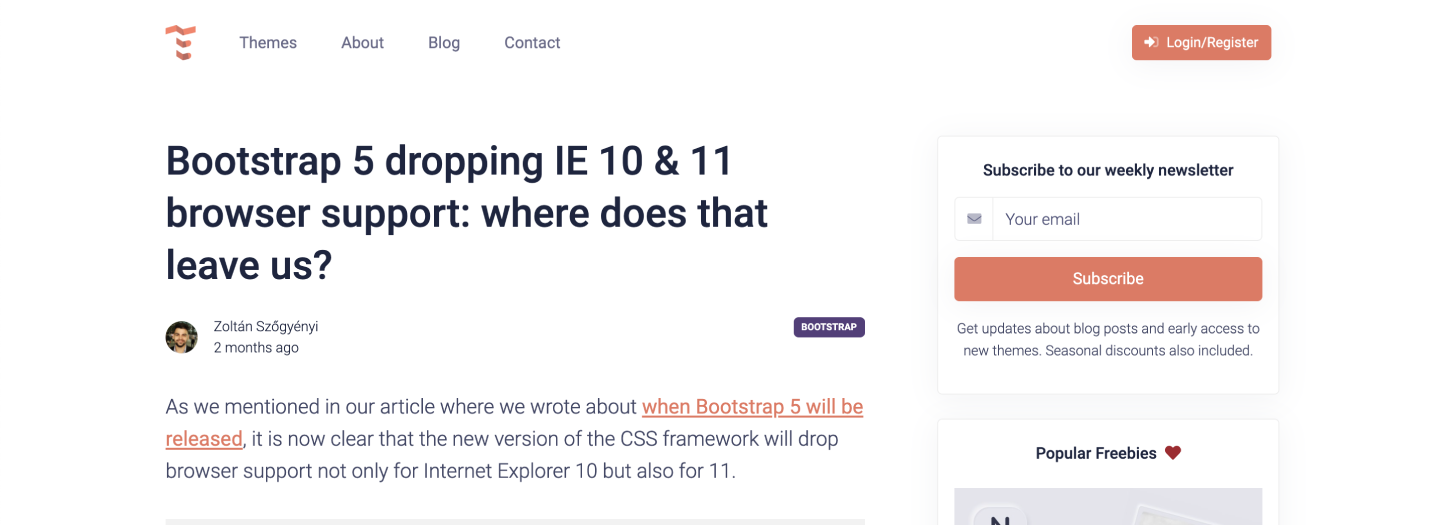 Bootstrap 5 dropping IE 10 & 11 browser support: where does that leave us?
